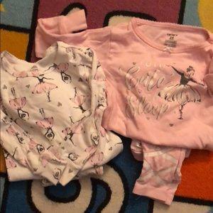 🎀Carter's Pajamas 24 months ballerina